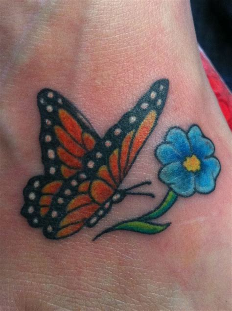 monarch butterfly tattoo designs monarch butterfly and forget me not flower in