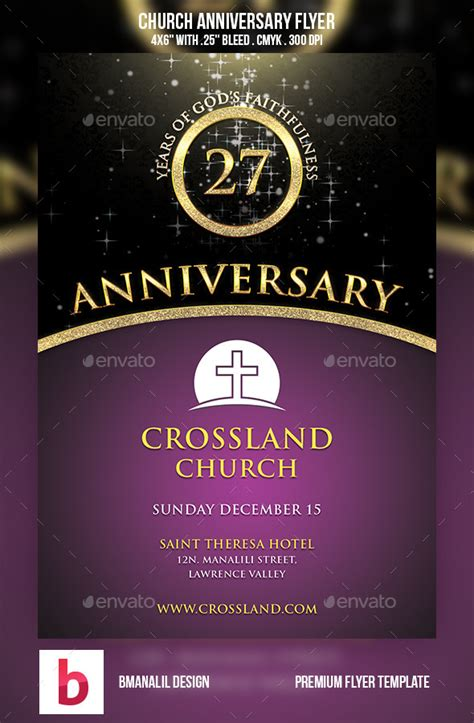 anniversary poster template church anniversary flyer flyers
