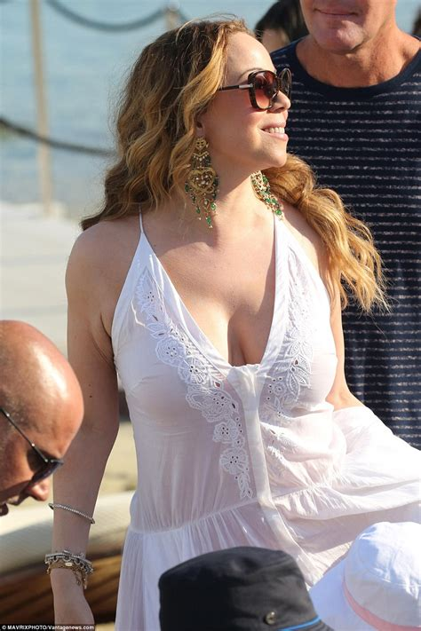 White Chandelier Uk Mariah Carey Goes Underwear Free In Greece With Fianc 233