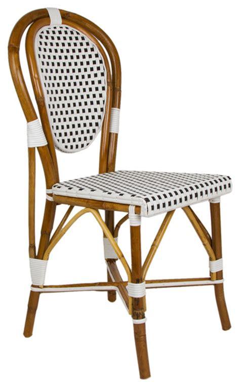 Mediterranean Chairs by White Black Mediterranean Bistro Chair Mediterranean