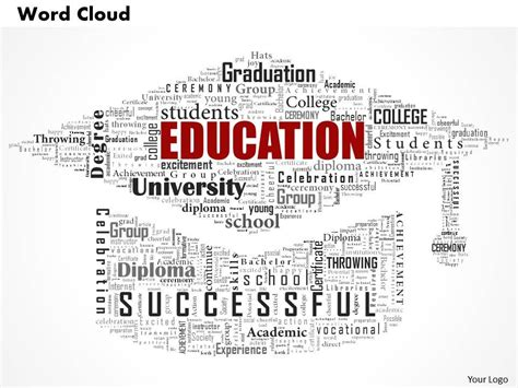 word cloud template 0514 education word cloud powerpoint slide template 1