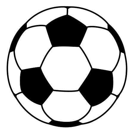 printable soccer ball template clipart best