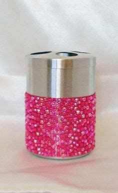 Pink Glitter Bathroom Accessories 11pc Pink Bathroom Accessories Set Bin Toilet Seat Brush Mirror Scale On Ebay Home