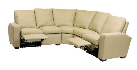 Leather Reclining Sectional Sofas Classic Leather Metro Reclining Sectional Sofa Sfmetro1