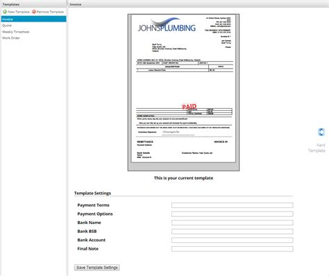 How Do I Setup My Invoice And Quote Templates Servicem8 Help Servicem8 Form Templates