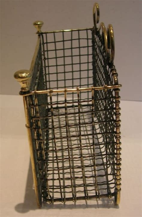 decorative antique brass wall hanging letter rack