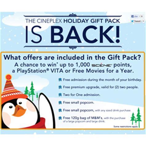 Cineplex Gift Pack | cineplex holiday gift pack