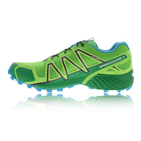 water resistant trail running shoes salomon speedcross 4 cs womens green water resistant trail