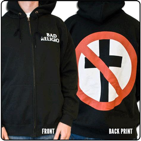 Jaket Sweater Hoodie Zipper Bad Religion blabbermouth cross buster zip bad religion
