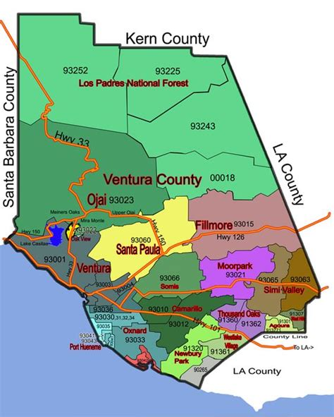 How To Apply To La County Map Of The Ventura County In California We Lived In Piru