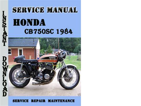 Honda Cb750 Repair Manual Pdf
