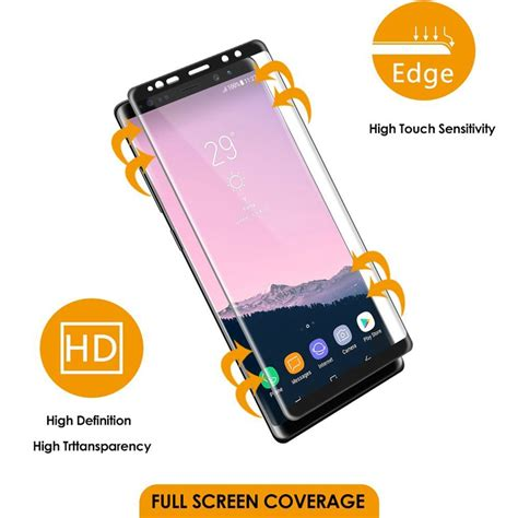 Tempered Glass Screen Samsung Note 8 2017 New Anti Gores Kaca 3d curved 9h tempered glass screen protector for samsung