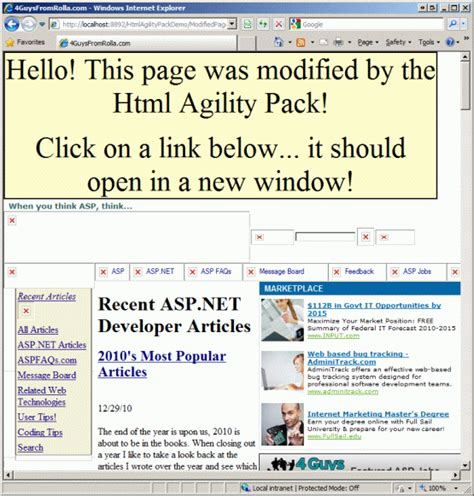 tutorial html agility pack html agility pack 1 4 6