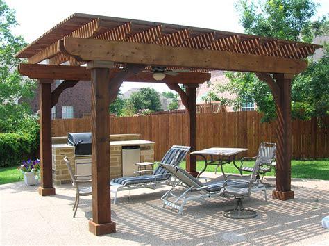 Free Standing Patio Roof Designs   Free Standing Cedar