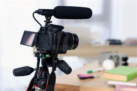 Shooting On Video Camera Stock Image Image Of Operator