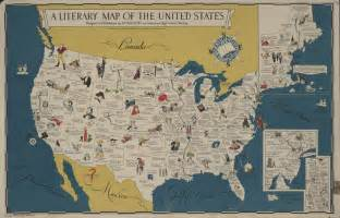 united states landmarks map clark library literary maps literature of the united
