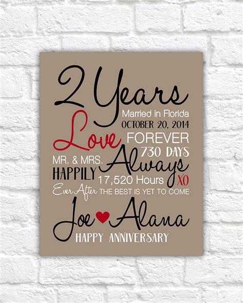 2 year anniversary gifts 2nd anniversary celebrating