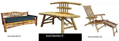 Kursi Bambu Di Karawang taman bambu nusantara aneka model furnitur dari bambu