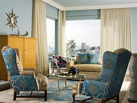 blue and gold living room from navy to aqua summer decor in shades of blue