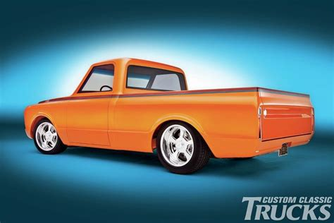 Truck Upholstery Shop This Orange Pearl Chevrolet C10 Truck Is A True Classic