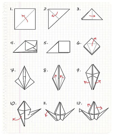 Simple Origami Crane - origami crane step by step a photo on flickriver