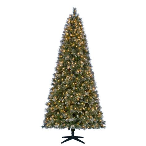 martha stewart living slim christmas tree martha stewart living 7 5 ft pre lit led sparkling pine artificial tree with 600 warm