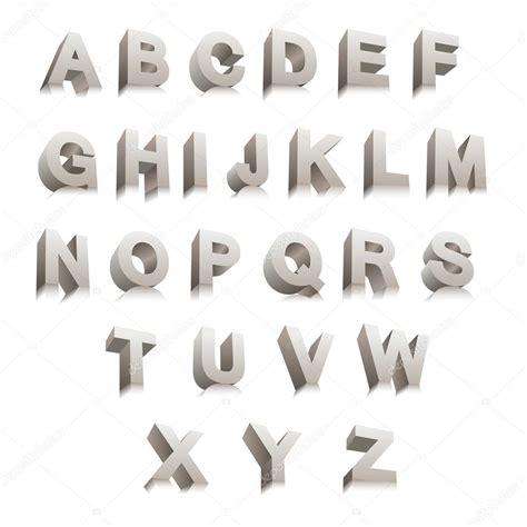 imagenes en 3d letras letras 3d vector de stock 51156609 depositphotos