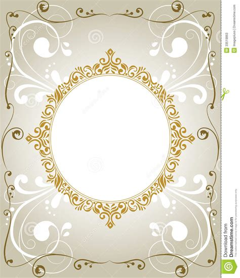 card photo frame template floral invitation card stock vector illustration of