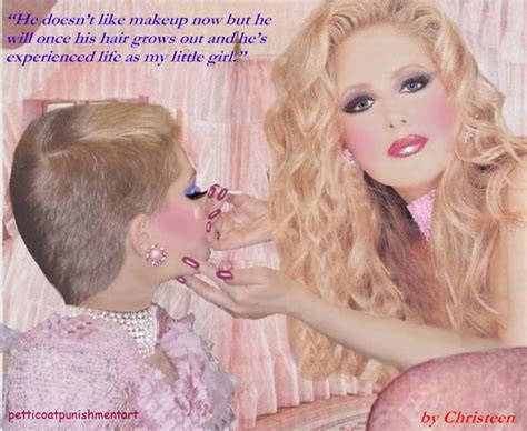 permanent makeup sissy punishment at bigcloset 8 1 early efforts as chris starts down the petticoated