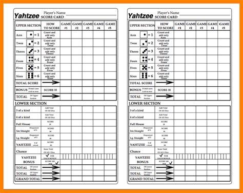 printable triple yahtzee score sheets pdf printable sheet yahtzee score card bing images