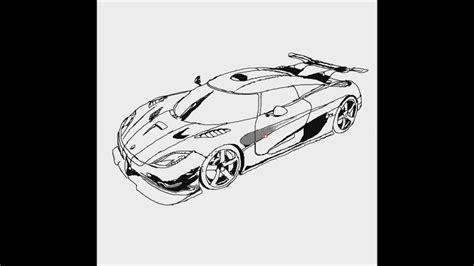 koenigsegg car drawing how to draw a car 11 koenigsegg car
