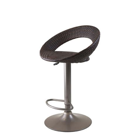 winsome wood bali woven seat air lift adjustable stool