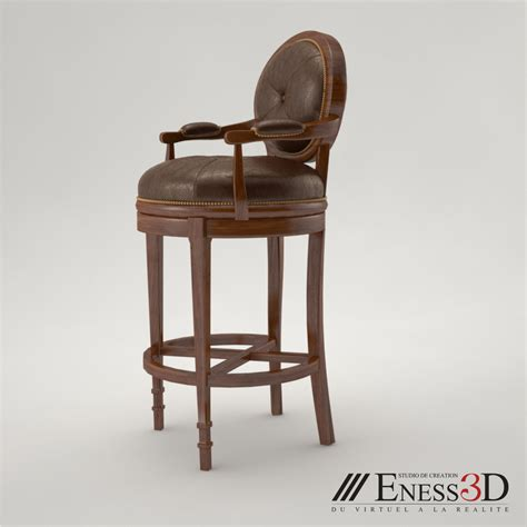theodore alexander bar stools pro bar stool 4200 144dc theodore alexander 3d model max