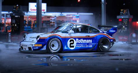 rwb porsche background picture tuning porsche 911 rwb rothmans race by khyzyl
