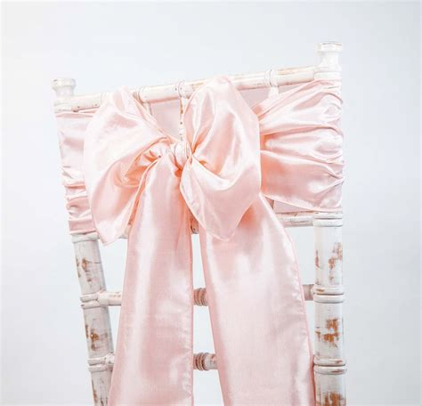 blush pink chair sashes buy taffeta sash blush pink from chair cover depot