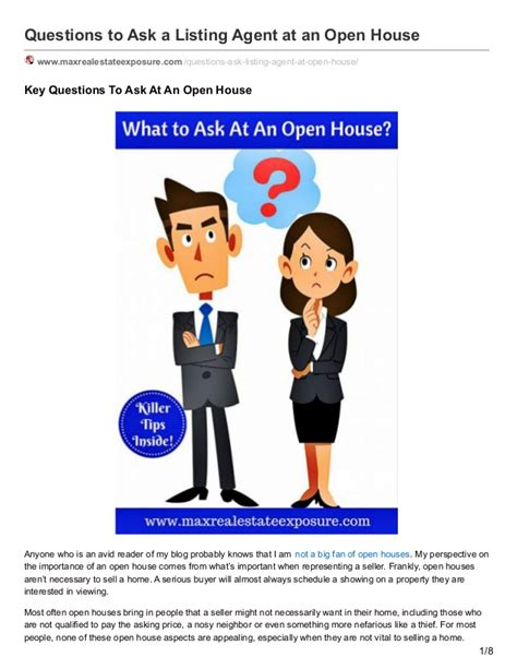 questions to ask at an open house questions to ask at an open house