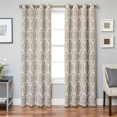 grey pattern grommet curtains 33 best white and gray window curtains images on pinterest