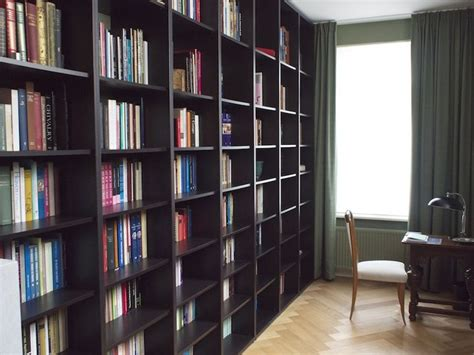 Wall To Ceiling Bookshelves Ikea Hackers Floor To Ceiling Billy Bookshelves For