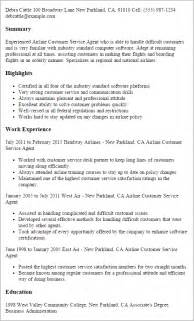 Resume Samples Airline Jobs by Professional Airline Customer Service Agent Templates To