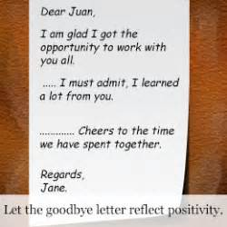 thank you letter friend co worker how to write the goodbye letter to a co worker