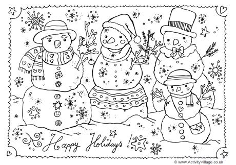 free coloring pages happy holidays happy holidays colouring page