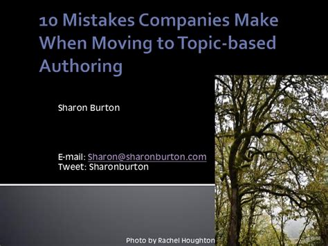 Organizations 10 Mistakes That Most Make by 10 Mistakes Companies Make When Moving To Topic Based