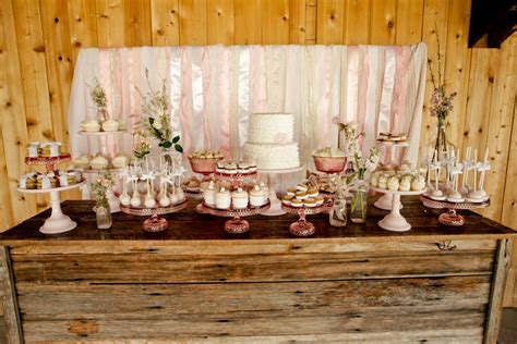 Rustic Dessert Table by Vintage Pink Shabby Chic Dessert Table Cookies
