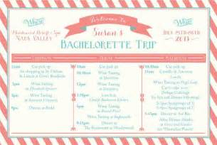 bachelorette itinerary template printable bachelorette weekend itinerary birthday weekend