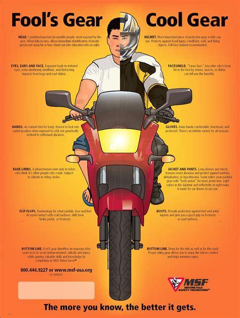 fool s gear vs cool gear motorcycle safety gear guilty