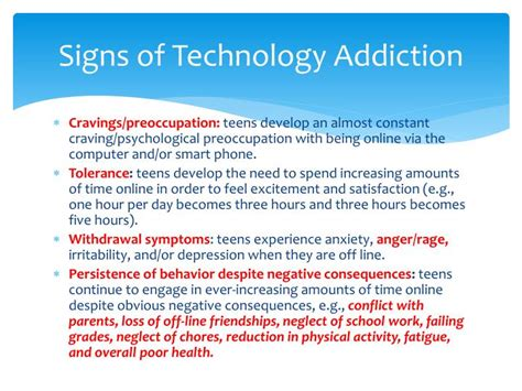 Technology Detox Symptoms by Ppt The Impact Of The On Adolescent Mental
