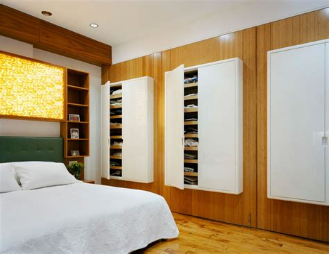 wall storage units bedroom contemporary with built in bed