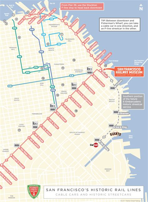 san francisco trolley map pdf cable car in san francisco map