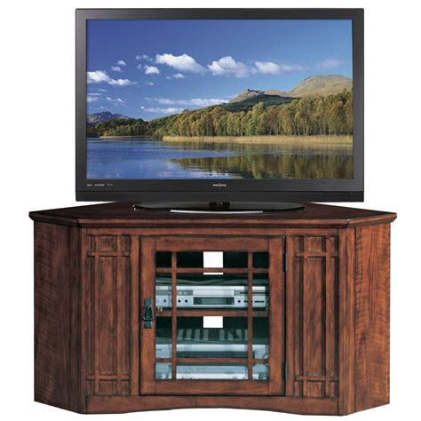 tv consoles leick holliday mission tv stand 50 inch oak oak tv console