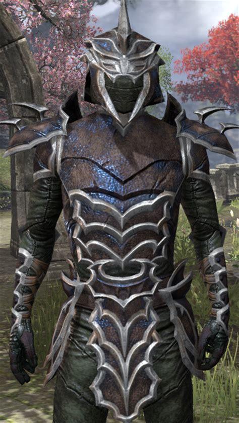 ebony light armor eso eso fashion daedric full leather